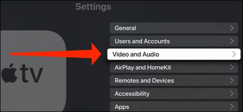 apple tv video audio settings - نحوه تغییر رزولوشن نمایشگر در اپل تی وی
