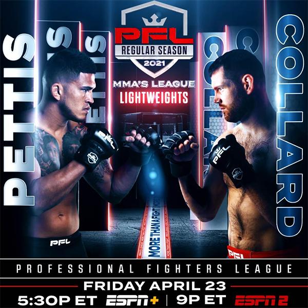 دانلود رویداد ام ام ای:  PFL1:Pettis vs. Collard-2021.01.23