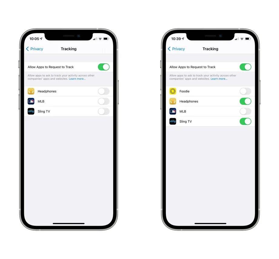 تنظیمات ردیابی برنامه ها در iOS 14.5