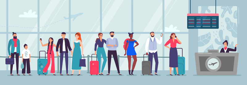 تجربه فرودگاه هوستون در کاهش زمان انتظار مشتریو مخاطب