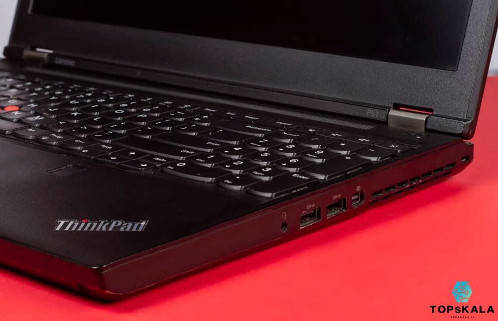 لپ تاپ استوک لنوو مدل LENOVO P51 WorkStation - پردازنده Intel Core i7 7820HQ با گرافیک Nvidia Quadro m2200