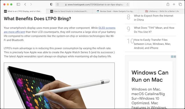 Text in Safari at 12 Points - نحوه بزرگ کردن خودکار فونت های کوچک مرورگر سافاری در مک