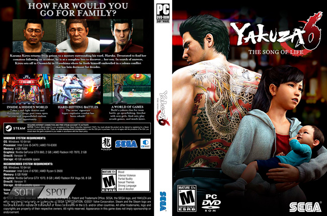 Yakuza 6 The Song of Life Cover