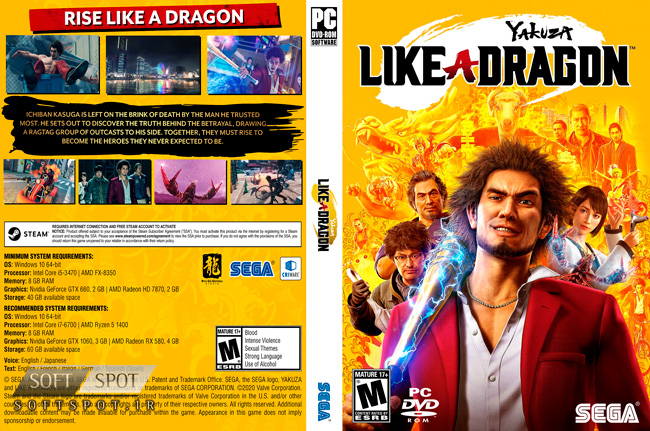 Yakuza Like a Dragon Cover