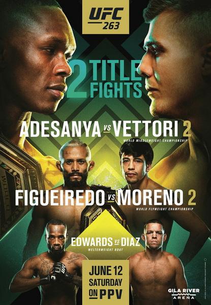 دانلود رویداد یو اف سی 263 : UFC 263: Adesanya vs. Vettori 2-نسخه ی 1080 اضافه شد.