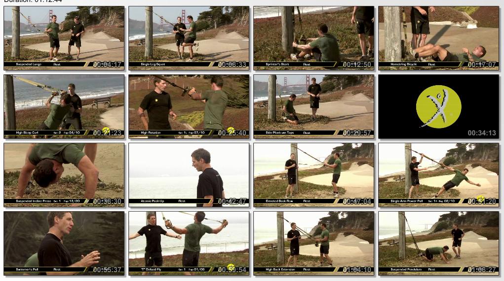 بسته ی تمرینی تی آر ایکس : TRX  Military Fitness Guide