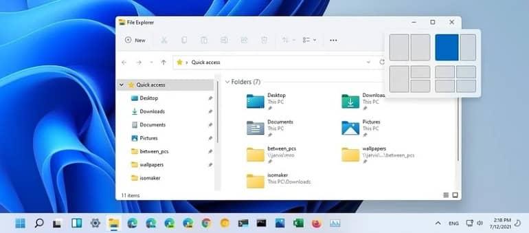 windows 11 key z snaplayouts shortcut - چهار میانبر صفحه کلید جدید که در ویندوز 11 باید یاد بگیرید