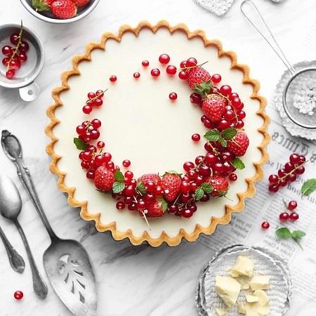 طرز تهیه تارت توت فرنگی خوشمزه strawberry tart