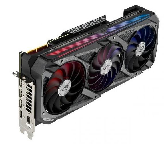 کارت گرافیک گیمینگ ایسوس ROG Strix GeForce RTX 3080 OC ظرفیت 10 گیگابایت