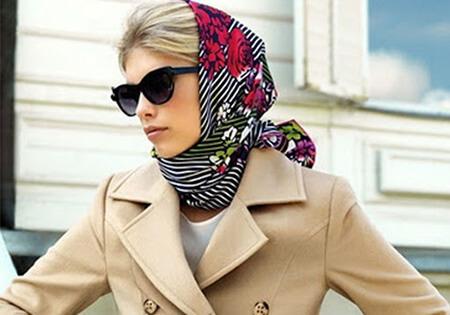 روش های جلوگیری از سر خوردن روسری slipping scarf