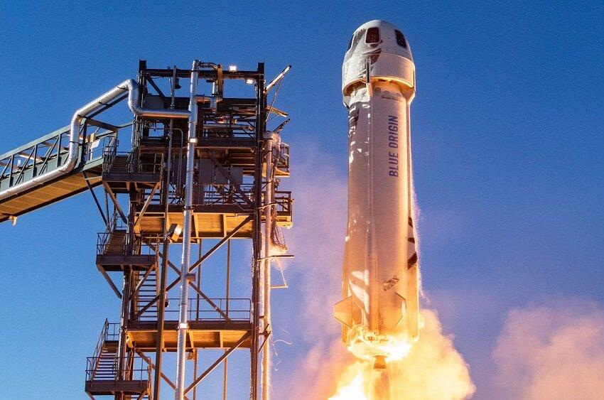 سفر 11 دقیقه ای جف بزوس با سفینه نیوشپرد به فضا