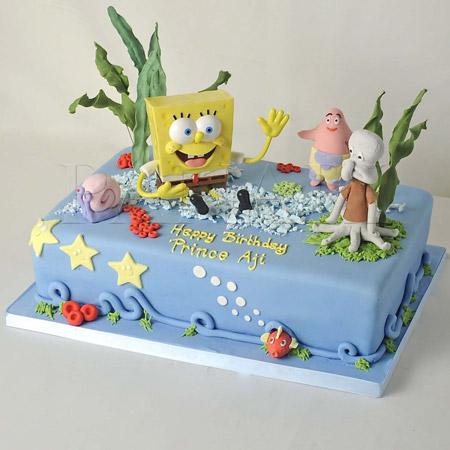 مدل های کیک تولد باب اسفنجی sponge bob cake