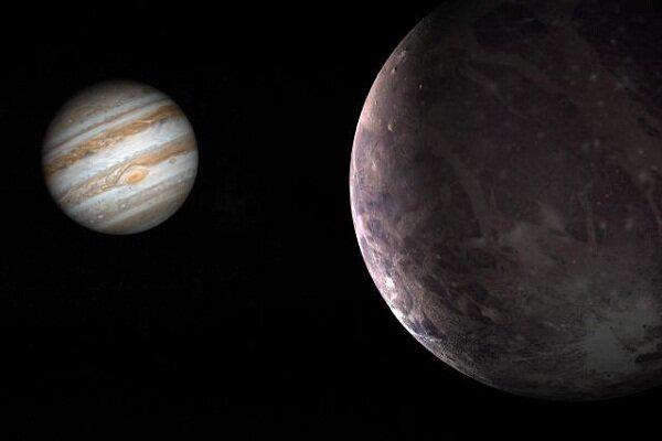 شواهد وجود بخار آب در قمر بزرگ مشتری گانیمد