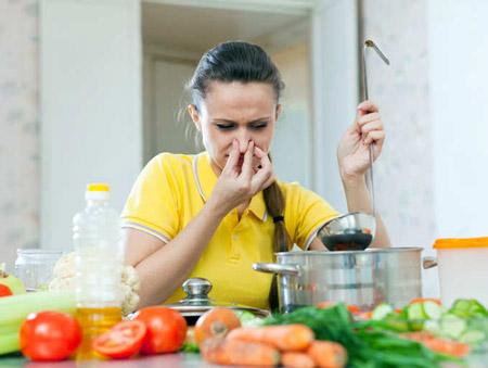 رفع بوی سوختگی از غذا eliminate burns food