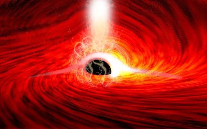 ستارهشناسان برای نخستین بار پشت یک سیاهچاله را دیدند