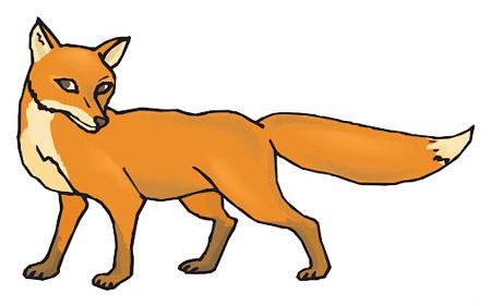 ضرب المثل به روباه گفتند شاهدت كيه؟ گفت:دمم witness said tail