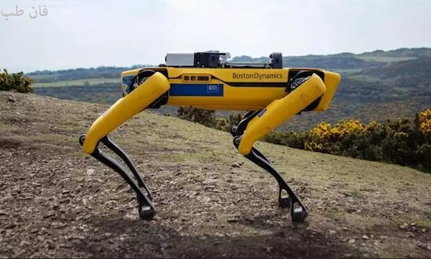 گزارش خرابی دکل ها توسط سگ رباتیک Robotic dog