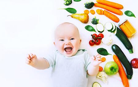 زمان شروع مصرف سبزیجات برای نوزادان vegetable