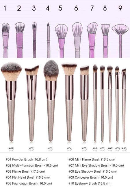 کاربرد انواع قلم موهای آرایشی makeup brushes