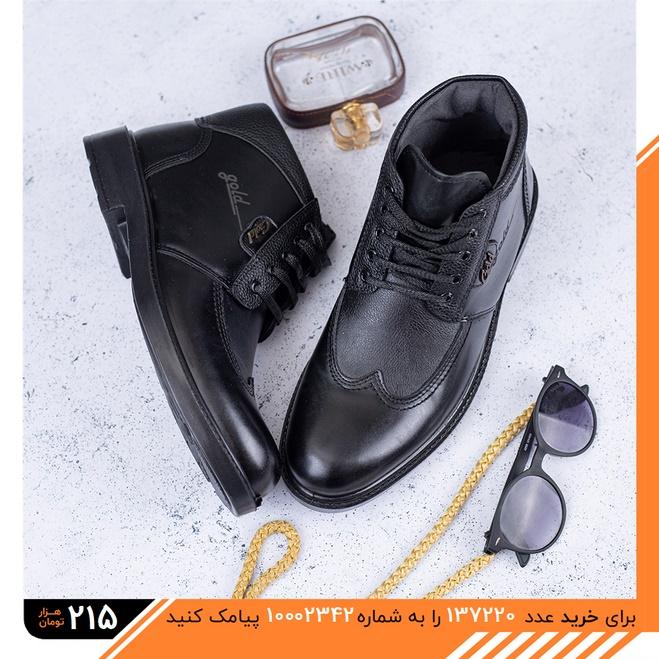 عکس محصول کفش نیم بوت چرم مردانه Kamiar مدل 1511