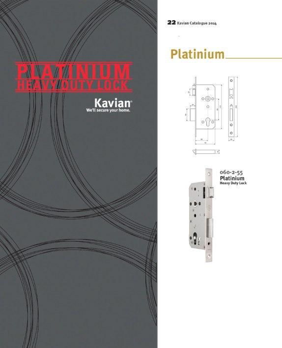 قفل پلاتینیوم کاویان