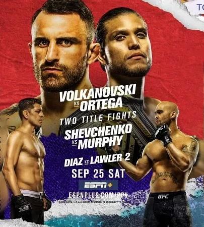 دانلود رویداد  یو اف سی  266 | UFC 266: Volkanovski vs. Ortega