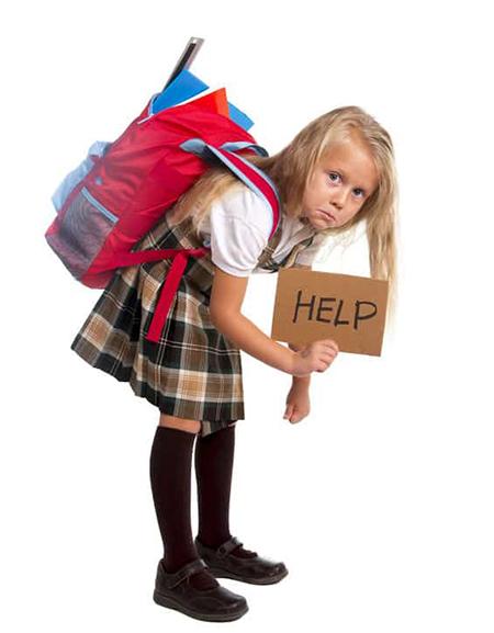 سبک کردن کیف مدرسه school bag